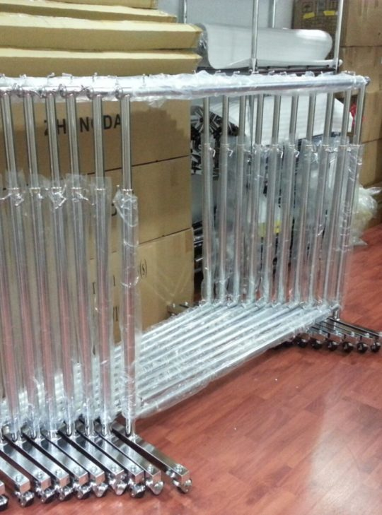 Rental Clothing Clothes Garment Rack Silver Chrome With Wheel