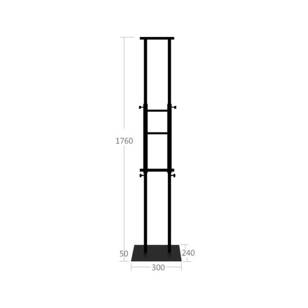 BS 02B Banner Stand Black Color Adjustable Height