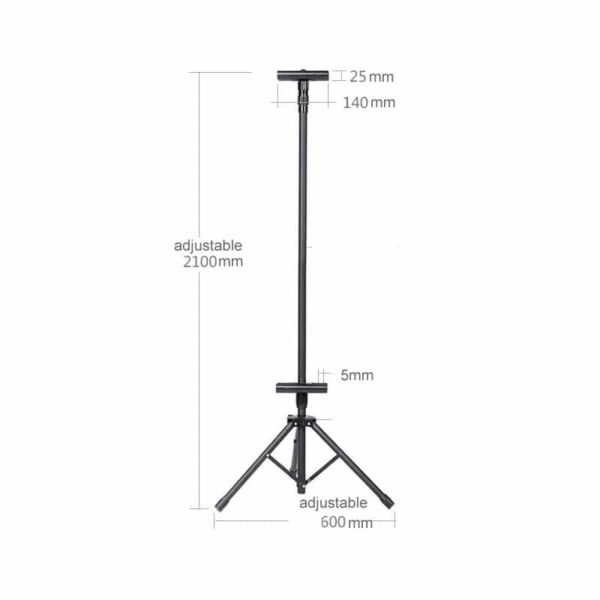 BS 01B Banner Stand Black Color Adjustable Height