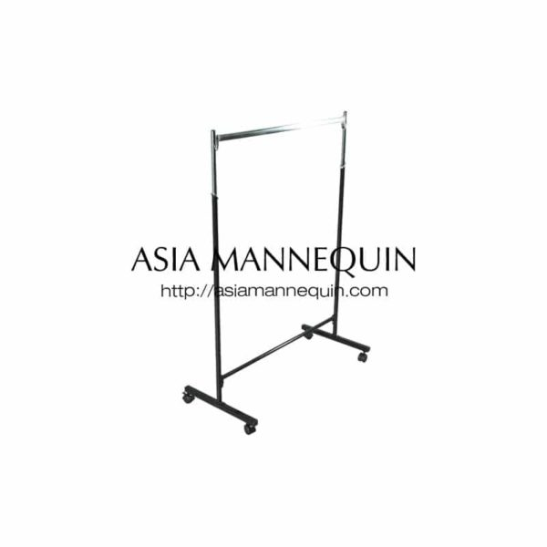 CRLW02 Clothes Garment Racks, Single Tier, Extendable Height w/o Rollers
