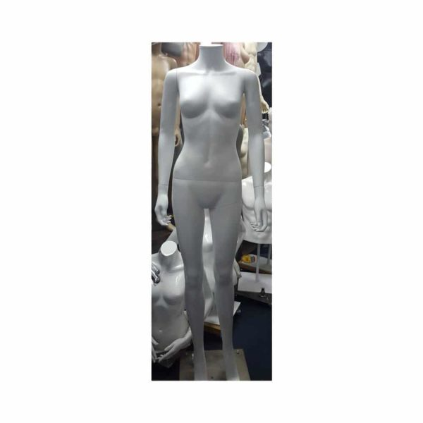 glossy white headless with cap