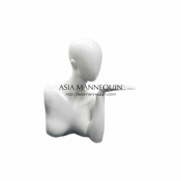 JDM1 Jewellery Display Mannequin Glossy White