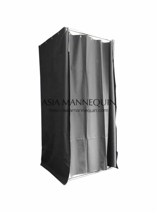 Mfr001-Bk Fitting Room (Open-Top, Ring Curtain)