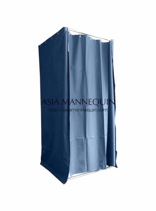 Mfr001-Bl Fitting Room (Open-Top, Ring Curtain)
