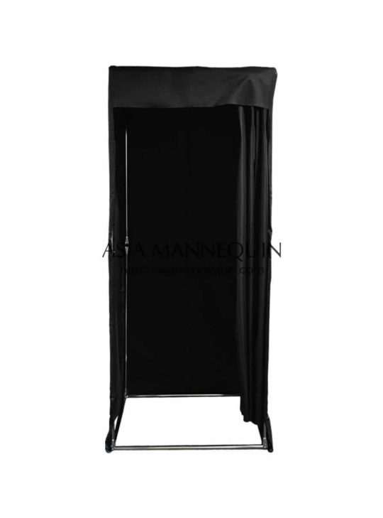 Mfr003-Bk Fitting Room (Covered-Top, Velcro Curtain)