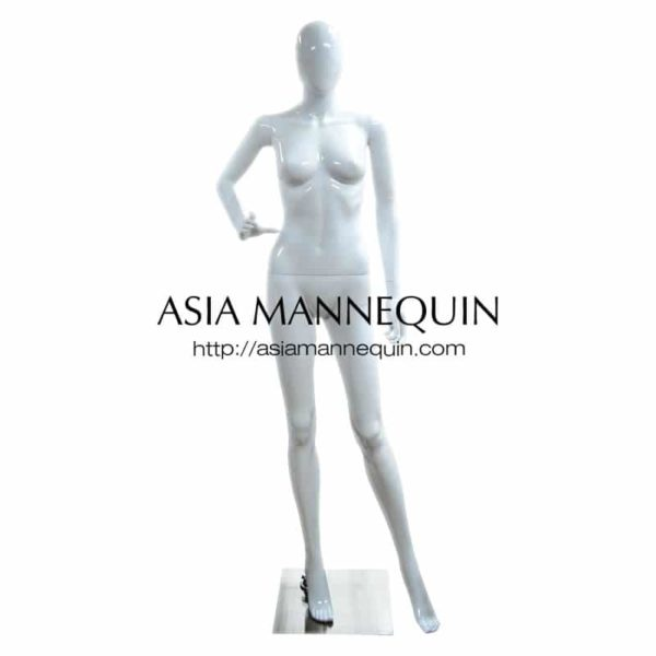 MPWF017G Female Mannequin, Glossy White Polyproplene