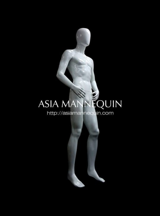 Mpwm002G Mannequin  Polypropylene White, Male (Glossy, Full Bodied) (Matte , Full Bodied)